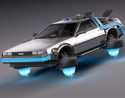 back to the future delorean episode 2 future 3d model max obj 3ds fbx c4d lwo lw lws