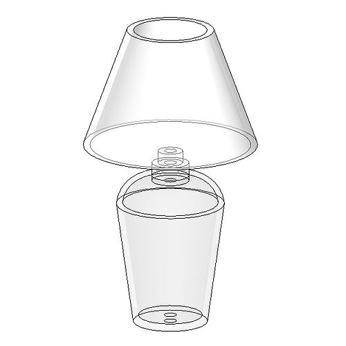 Lampe de bureau 05 free 3d model rfa for Model de bureau secretaire
