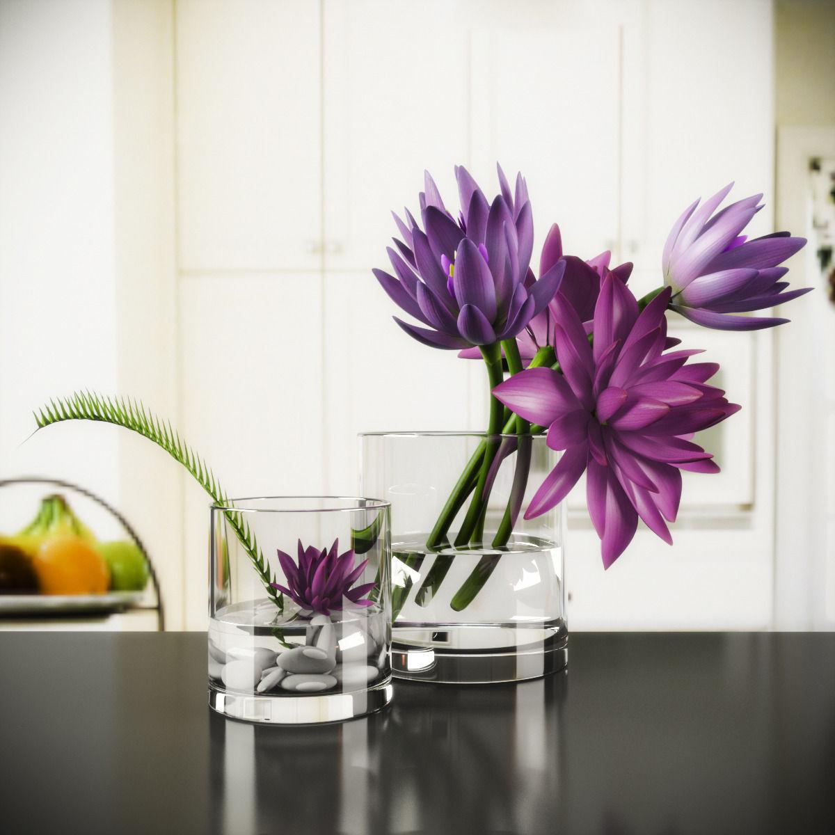 3d Model Lotus Vase Cgtrader