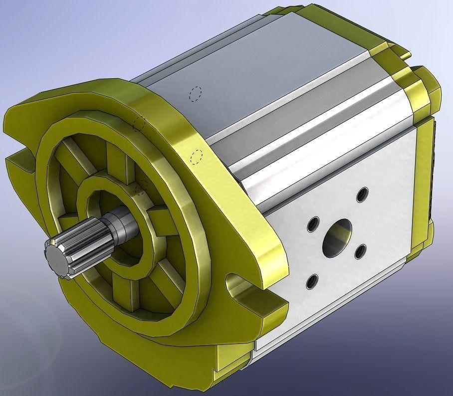 Hydraulic Gear Pump Design : Hydraulic gear pump vivolo xv p free d model cgtrader