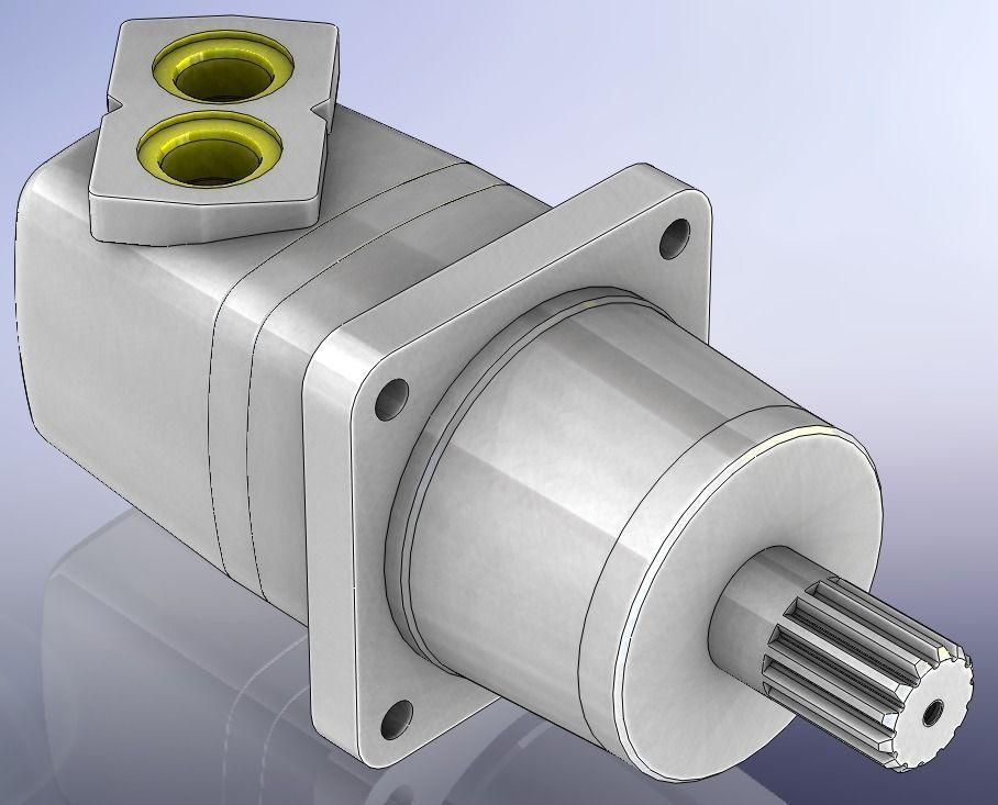 Hydraulic Motor Eaton M06 490 Ac Free 3d Model