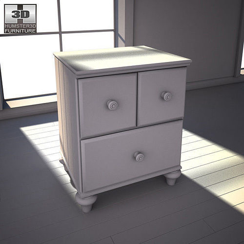 3D model Ashley Jaidyn Poster Bedroom Set | CGTrader