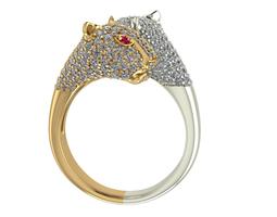 twin leopard ring 3d print model