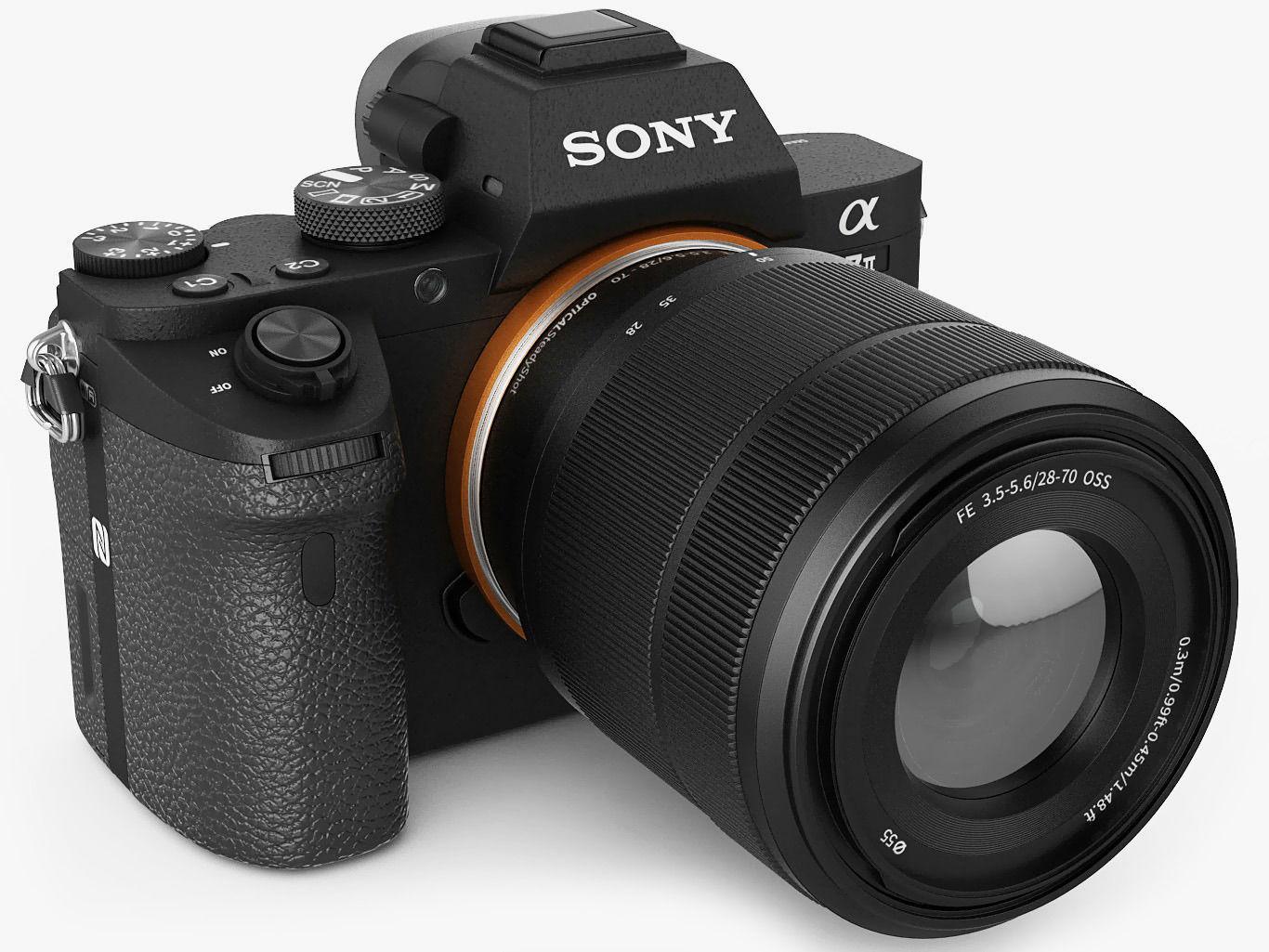 Camera 3d Dslr Camera dslr camera 3d models download files cgtrader sony