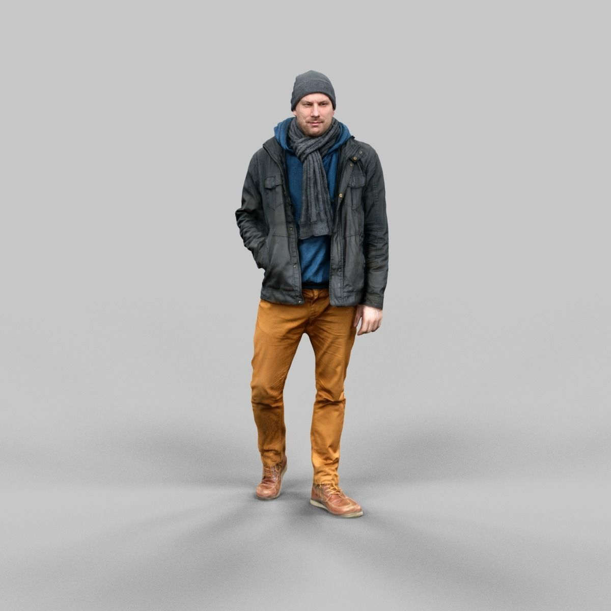 Casual Male Walking Pose Free Vr Ar Low Poly 3d Model
