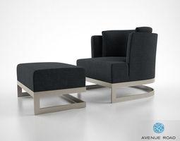 Avenue Road St John street armchair 3D model