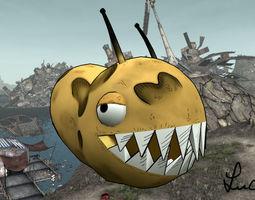game-ready monster potato creature 3d model