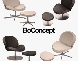 3D model Schelly Armchair Set BOCONCEPT