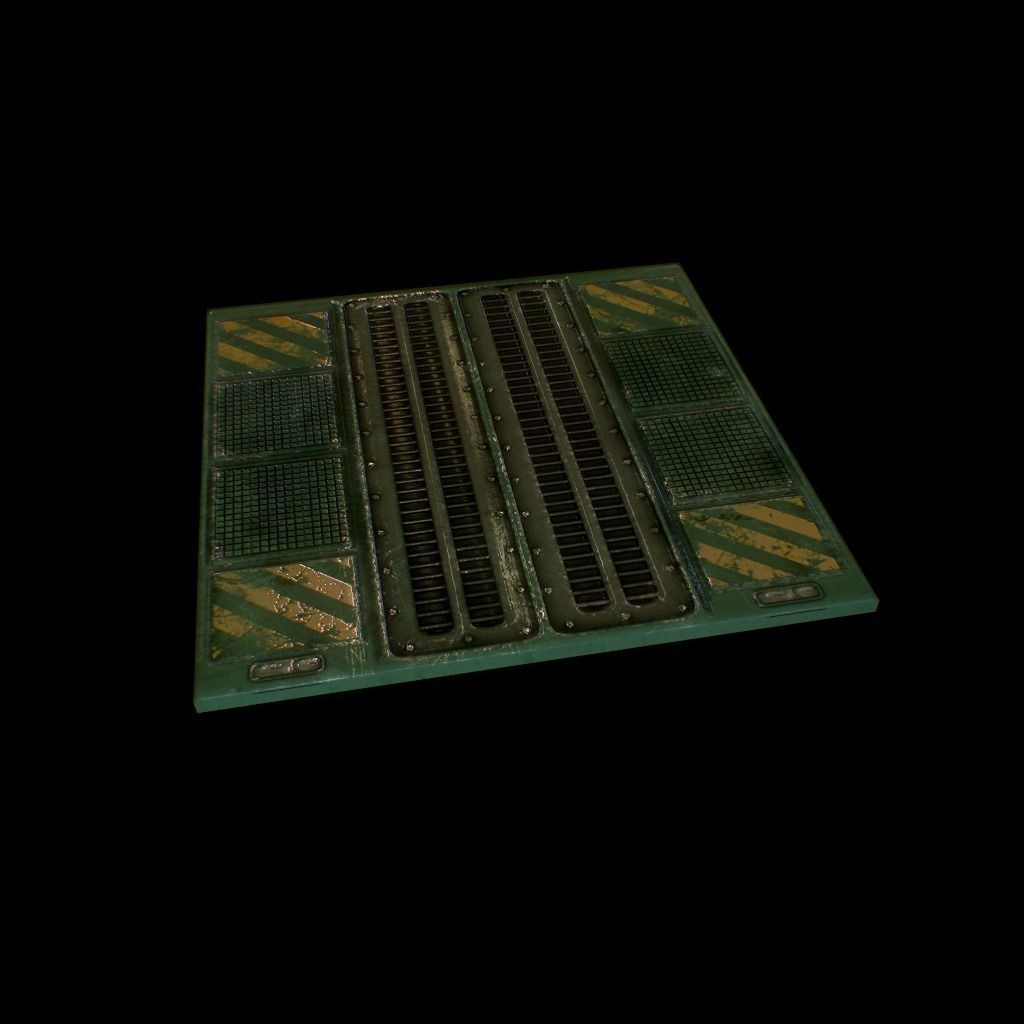 3d Floor Panels : D model sci fi floor panel vr ar low poly obj ds fbx