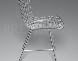 3d model bertoia side chair - knoll