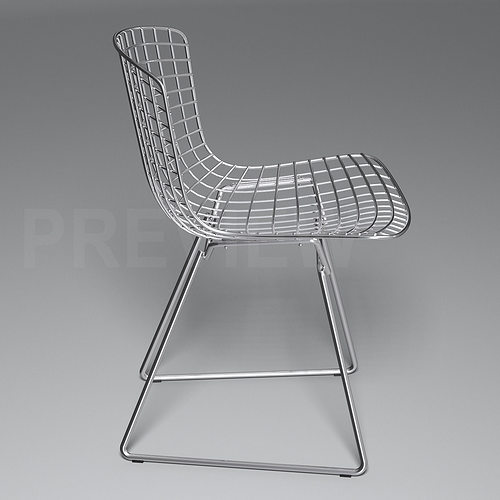 bertoia side chair knoll 3d model cgtrader