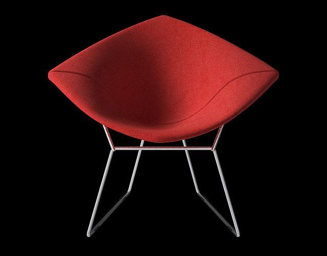 Bertoia Diamond Armchair With Full Cover Knoll 3D Model