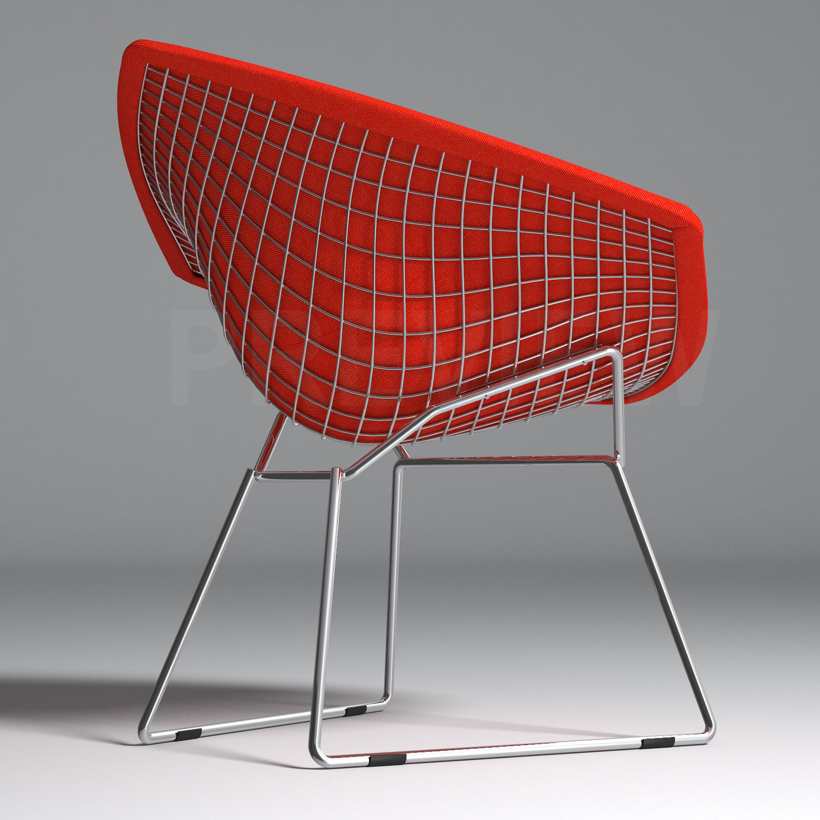 bertoia diamond armchair with full cover knoll 3d model. Black Bedroom Furniture Sets. Home Design Ideas