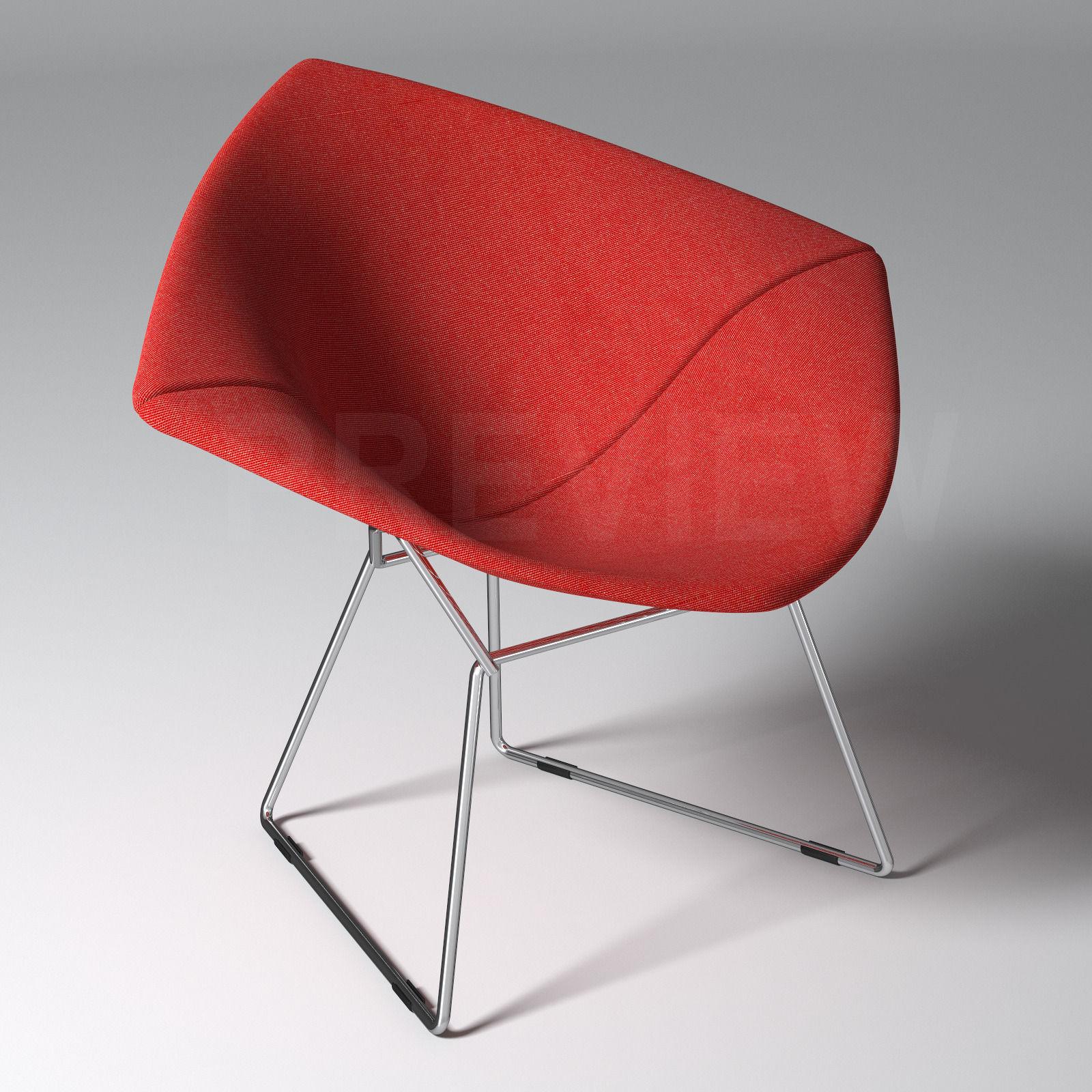 Charmant Bertoia Diamond Armchair With Full Cover   Knoll 3D Model