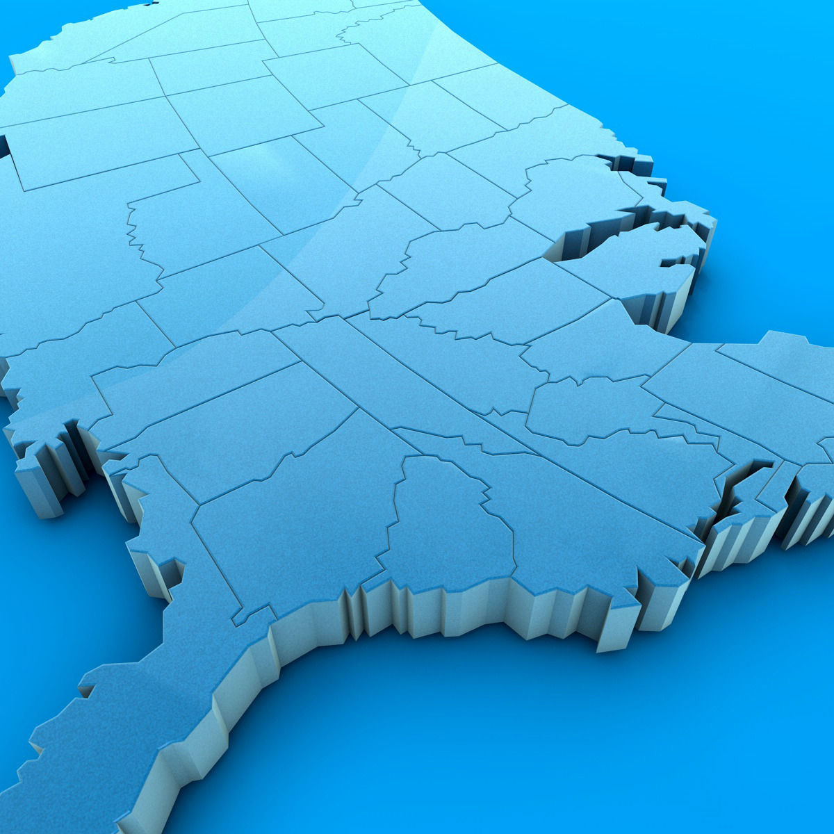 D Map Of United States Stock Photo Picture And Royalty Free US - Us 3d map