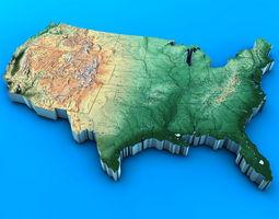 3D USA Map