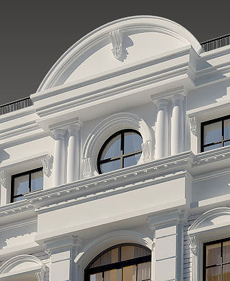 Classic house 01 3d model cgtrader for Exterior 3d model