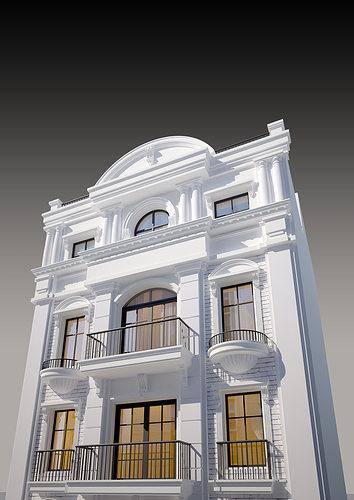 Exterior: Classic House 01 3D Model MAX