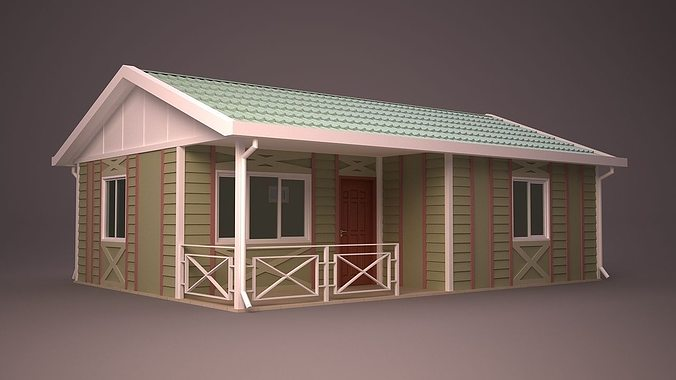 Ranch home 3d model cgtrader for Home 3d model