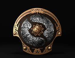 Dota 2 Championship Shield 3D model
