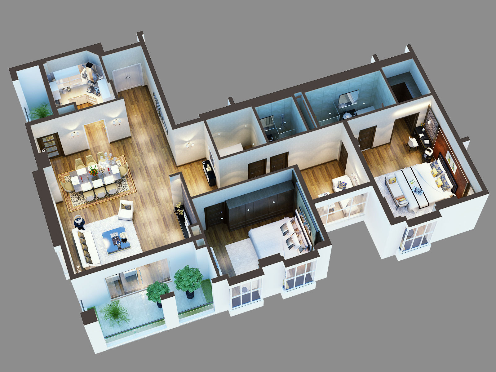 cutaway residential building 3d model cgtrader