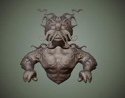 3D printable model Merman Bust