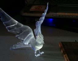 bird with wings stretched back 3d printable model