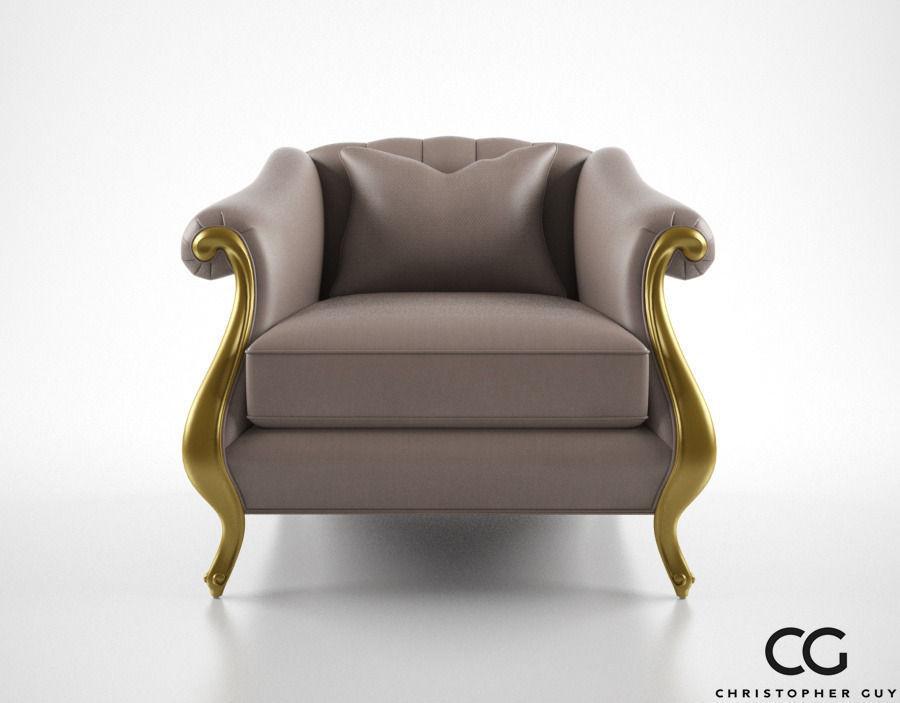 Christopher Guy Babette Club Chair 3d Model Max Obj 3ds Fbx Mtl 1 ...