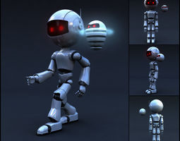 Robot Full Body Rigged Character 3D model game-ready