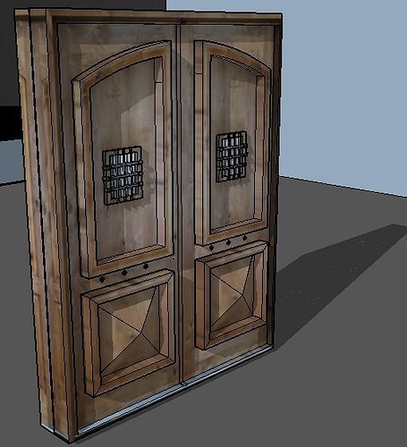 Haunted house door 3d cgtrader for Door models for house
