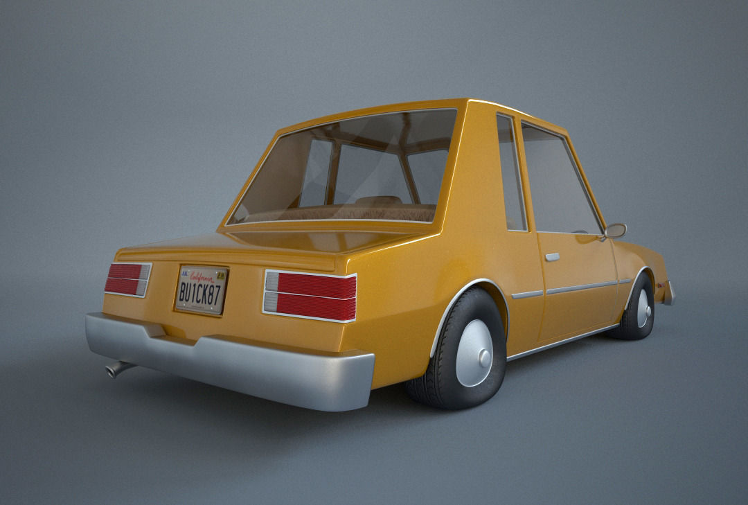 3d Model Cartoon Car Buick Cgtrader