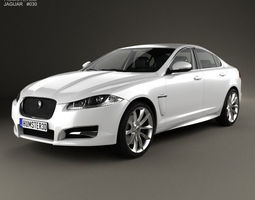 jaguar xf with hq interior 2012 3d model