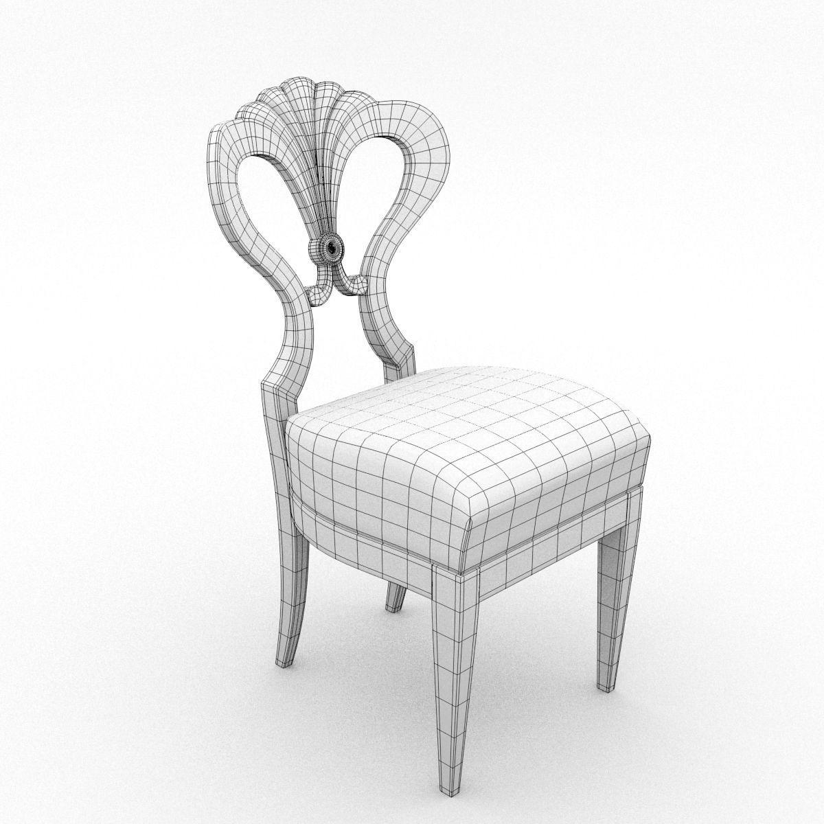 ... antique chair 3d model obj fbx blend mtl 9 ... - Antique Chair Biedermeier 3D Model CGTrader