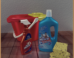 Home Cleaning Tools 3D