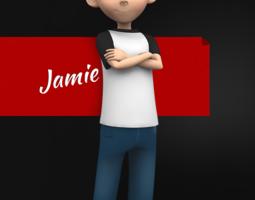Jamie Toon Kid Character 3D model