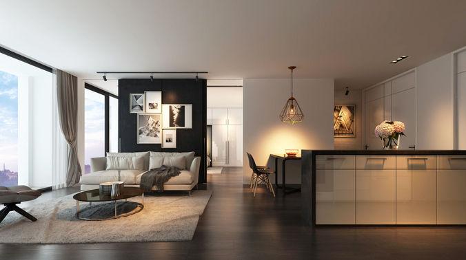 ap4 apartment 3d model max fbx 1