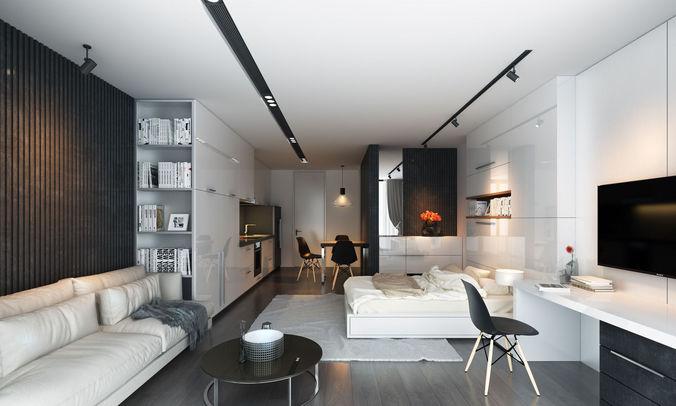 3d scene apartment ht 3d model max fbx 1