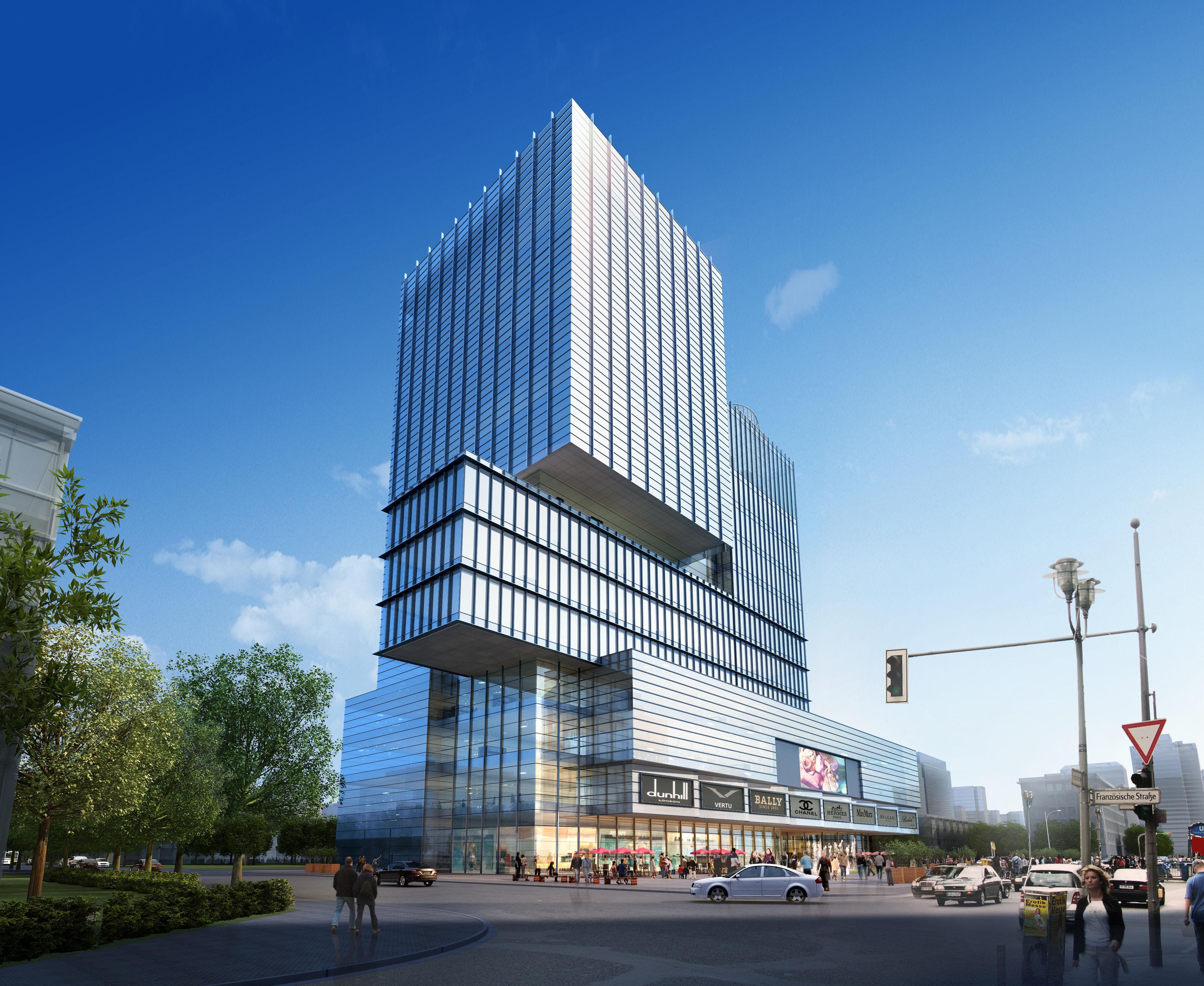 Skyscraper office building 053 3d model max tga for 3d max building
