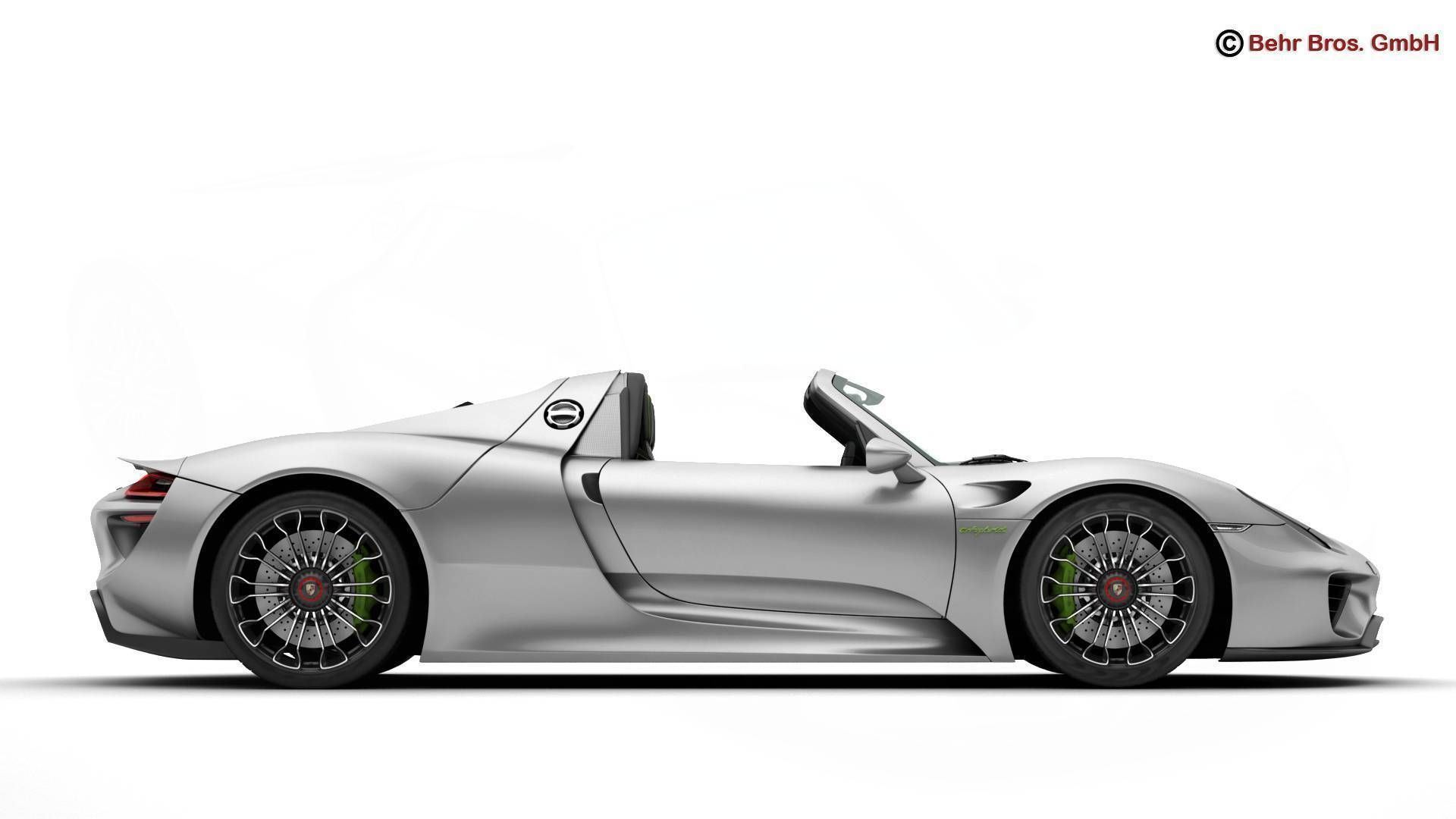 porsche 918 spyder including detachable roof 3d model max obj 3ds fbx c4d lwo lw lws. Black Bedroom Furniture Sets. Home Design Ideas