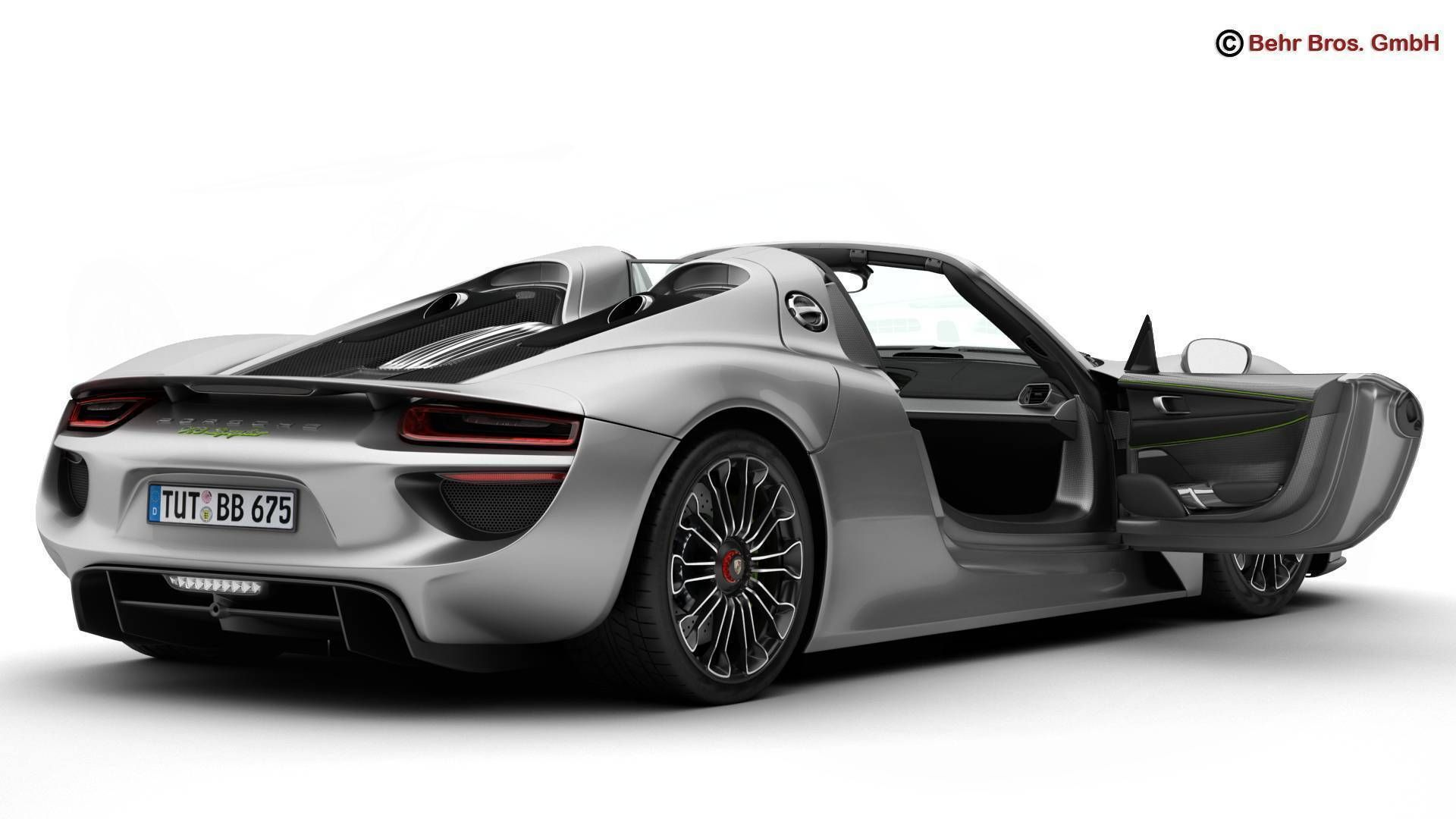 porsche 918 spyder including detachable roof 3d model max. Black Bedroom Furniture Sets. Home Design Ideas