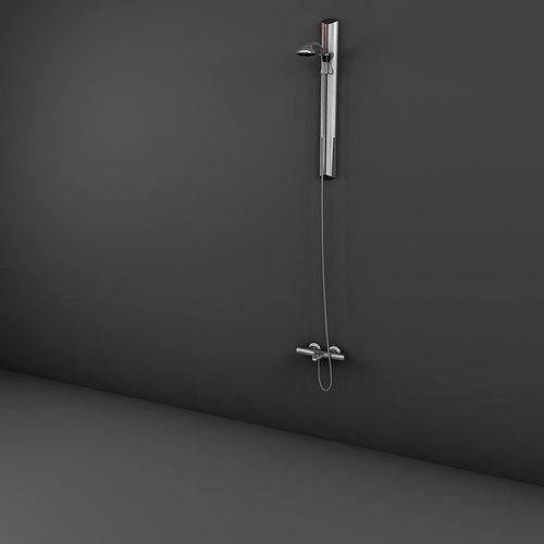 handle shower 3d model max obj 3ds fbx ma mb mtl 1
