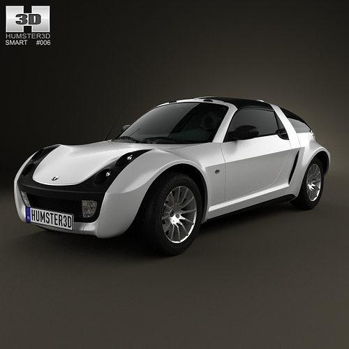 smart roadster coupe 2005 3d cgtrader. Black Bedroom Furniture Sets. Home Design Ideas