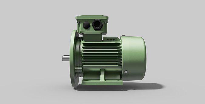 IEC80 B35 - Electric motor 3D | CGTrader