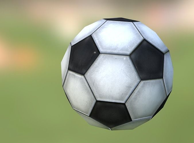 low-poly soccerball 3d model low-poly fbx 1