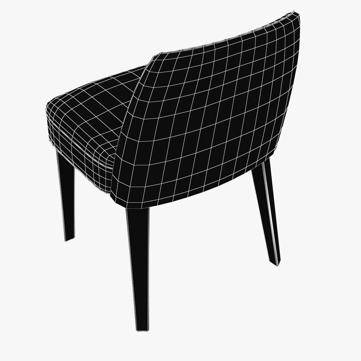 b b italia maxalto febo chair 3d model max obj 3ds fbx mtl. Black Bedroom Furniture Sets. Home Design Ideas