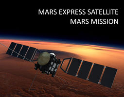 Mars Express Satellite 3D model