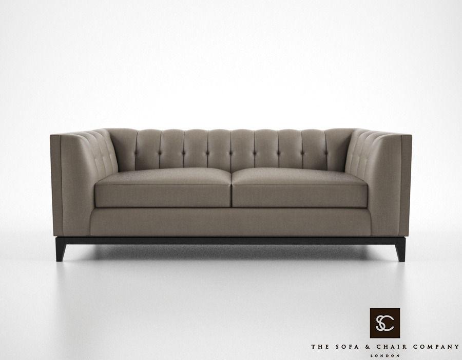 Awe Inspiring The Sofa And Chair Company Alexander Sofa 3D Model Creativecarmelina Interior Chair Design Creativecarmelinacom