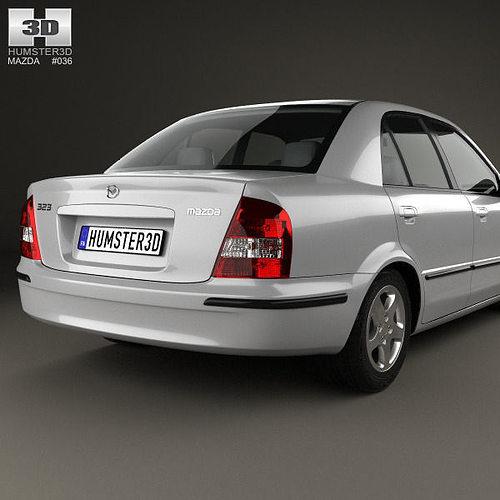 Mazda 323 1998 Model Max Obj Mtl S Fbx C4d Lwo Lw Lws 8