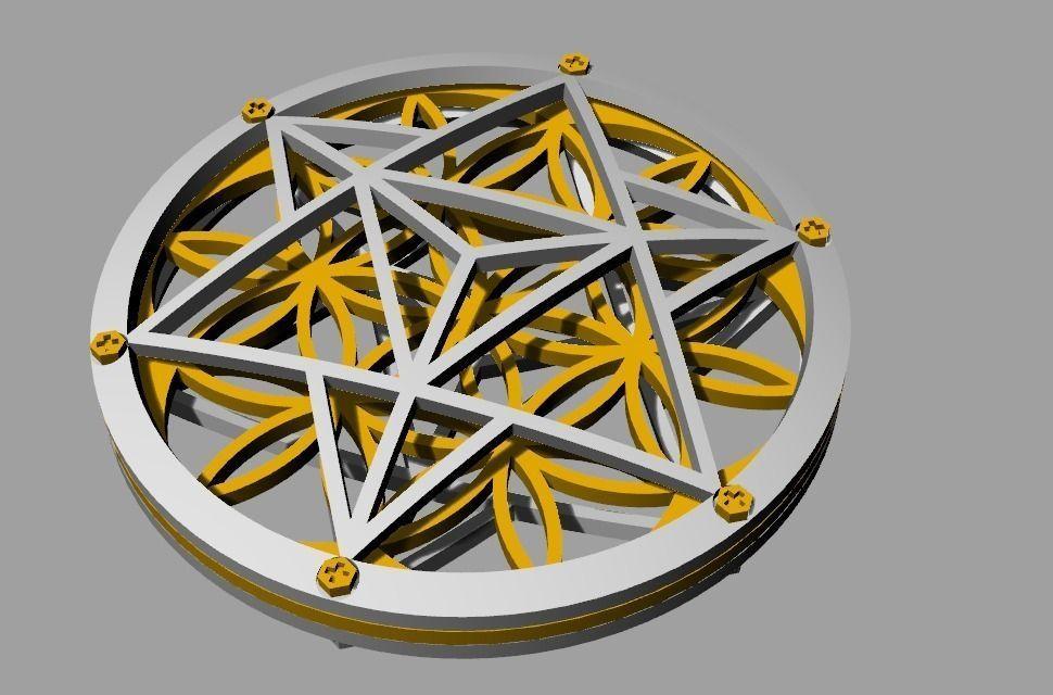 3d print model flower of life pendant cgtrader flower of life pendant 3d model stl 3 aloadofball Choice Image