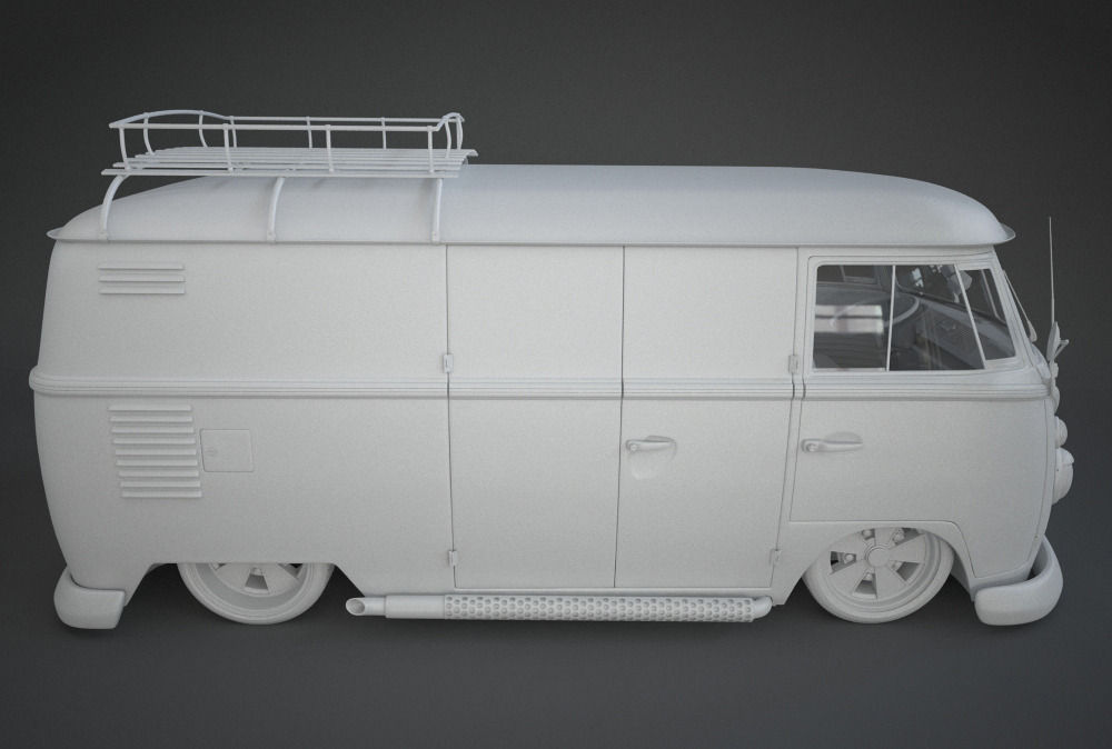 vw t1 custom bus 3d model max obj fbx. Black Bedroom Furniture Sets. Home Design Ideas